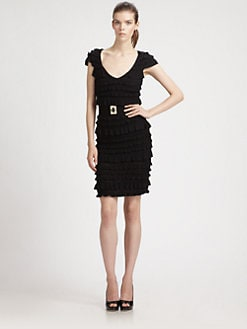 Ali Ro - Belted Ruffle Dress
