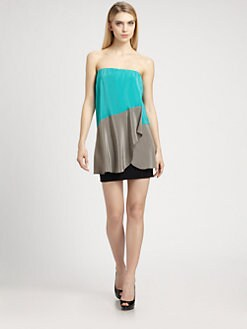Ali Ro - Silk Colorblock Dress