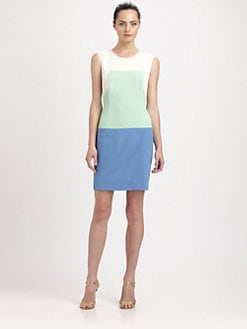 Shoshanna - Adelia Colorblock Dress