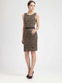 Trina Turk - Belted Leopard Dress