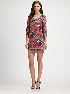 Laundry by Shelli Segal - Printed Stretch Jersey Dress