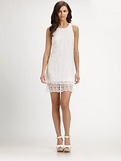 Laundry by Shelli Segal - Double-Tiered Lace Dress
