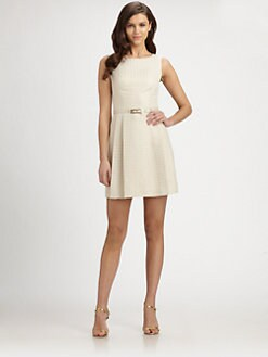 Trina Turk - Aime Belted Jacquard Dress