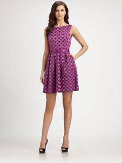 Trina Turk - Blaze Belted Jacquard Dress