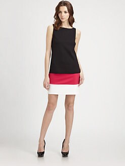 B44 DRESSED - Colorblock Ponte Dress