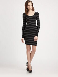 B44 DRESSED - Banded Stripe Dress