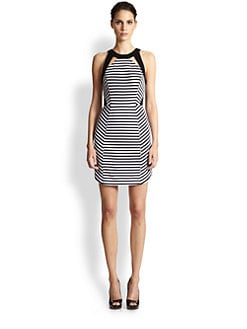 Ali Ro - Cutout Striped Dress