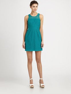 Ali Ro - Sleeveless Eyelet Dress