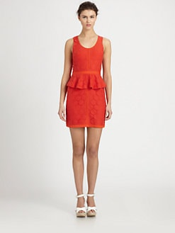 Ali Ro - Lace Peplum Dress