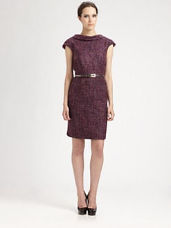 Trina Turk - Belted Tweed Dress