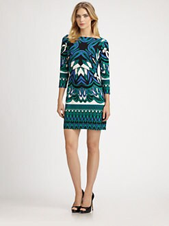 Ali Ro - Printed Jersey Cutout Dress