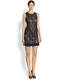 Laundry by Shelli Segal - Sleeveless Lace Shift Dress