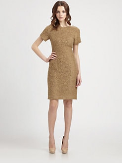 Lotusgrace - Chenille Sheath Dress