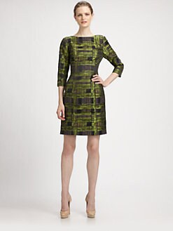 Lotusgrace - Modernist Print Sheath Dress