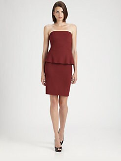 B44 DRESSED - Strapless Peplum Dress