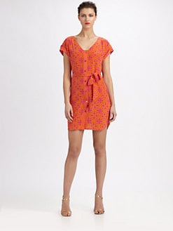 Trina Turk - Silk Printed Dress