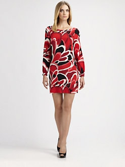 Trina Turk - Printed Silk Dress