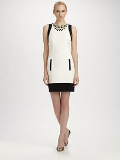 Laundry by Shelli Segal - Beaded Neck Dress