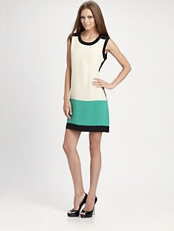 Shoshanna - Silk Colorblock Dress