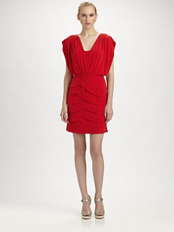 Laundry by Shelli Segal - Tiered Crossover Dress