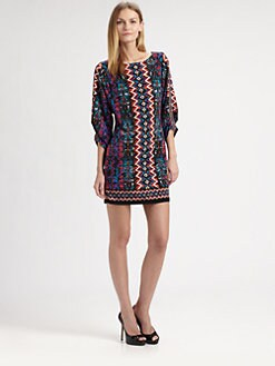 Laundry by Shelli Segal - Border-Print Jersey Dress