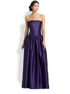 Lotusgrace - Strapless Gazar Gown