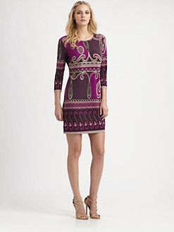 Ali Ro - Printed Matte-Jersey Dress