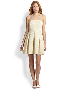 Trina Turk - Strapless Jacquard Dress
