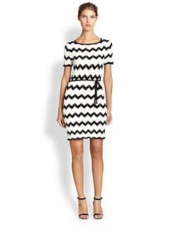 Trina Turk - Chevron Sweater Dress