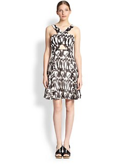 Trina Turk - Bellicity Cotton/Silk Crossover Dress