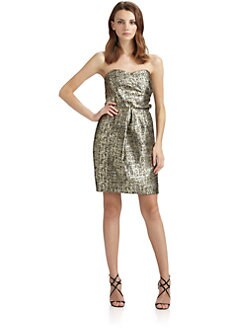 Shoshanna - Sylvie Byzantine Metallic Dress