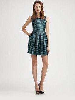 Shoshanna - Veronica Aegean Jacquard Dress