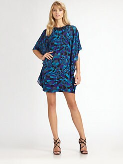 Trina Turk - Beaded Silk Caftan Dress
