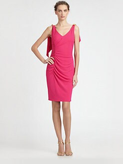 David Meister - Ruched Back-Drape Dress
