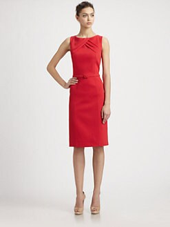 David Meister - Cotton Piqué Day Dress