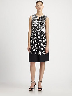 David Meister - Printed Day Dress