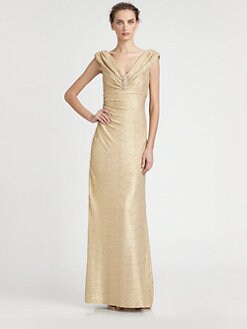 David Meister - Jeweled Metallic Gown
