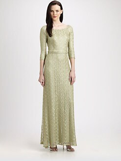 David Meister - Embroidered Sequined Gown
