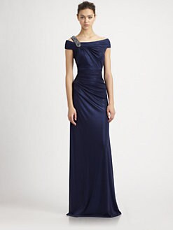 David Meister - Metallic Jersey Gown