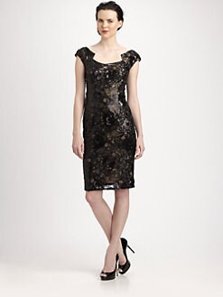 David Meister - Sequined Patterned Dress