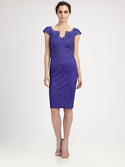 David Meister - Embroidered Lace Dress