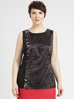 Tahari Woman, Salon Z - Leetal Sleeveless Blouse