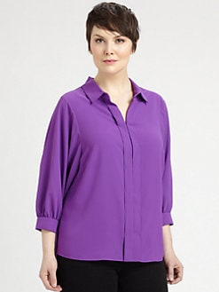 Tahari Woman, Salon Z - Satin Ania Blouse