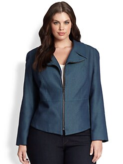 Tahari Woman, Salon Z - Peplum-Back Jacket