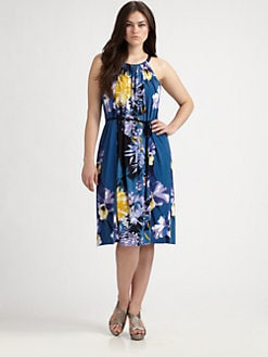 Tahari Woman, Salon Z - Floral-Print Halter Dress