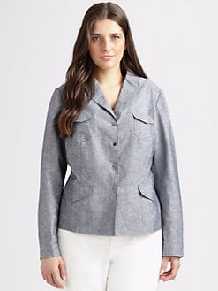 Tahari Woman, Salon Z - Linen-Blend Jacket