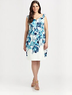 Tahari Woman, Salon Z - Abstract Floral Dress