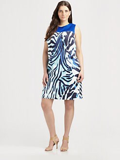 Tahari Woman, Salon Z - Zebra-Striped Dress