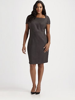 Tahari Woman, Salon Z - Python-Print Dress