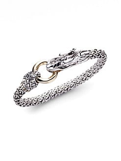 John Hardy - Sterling Silver & 18K Yellow Gold Dragon Bracelet
